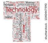 vector conceptual digital smart ... | Shutterstock .eps vector #1040447590