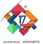 17 years anniversary design... | Shutterstock .eps vector #1040448070