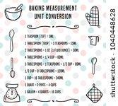 baking units conversion chart   ...   Shutterstock .eps vector #1040448628