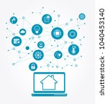 smart home control concept.... | Shutterstock .eps vector #1040453140