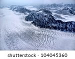 Aerial View Of A Glacier In...