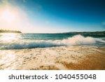 beach on the mediterranean in a ... | Shutterstock . vector #1040455048