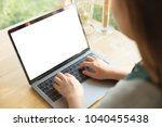 young women working on her... | Shutterstock . vector #1040455438