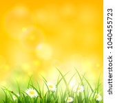 spring or summer yellow natural ... | Shutterstock . vector #1040455723