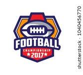 football championship 2017 logo ... | Shutterstock .eps vector #1040456770