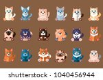 big cats collection. domestic... | Shutterstock .eps vector #1040456944