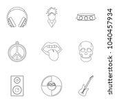 rock music festival icon set....   Shutterstock . vector #1040457934