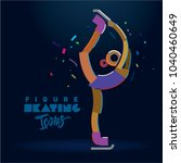 figure skater girl. vector...   Shutterstock .eps vector #1040460649