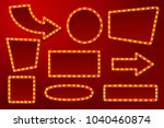 vector realistic glowing signs... | Shutterstock .eps vector #1040460874