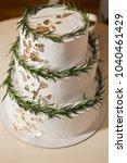 beautiful wedding cake... | Shutterstock . vector #1040461429
