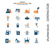 power and energy icons set.  | Shutterstock .eps vector #1040461528