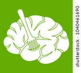 fork is inserted into the brain ... | Shutterstock . vector #1040461690
