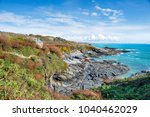 prussia cove a small hamlet... | Shutterstock . vector #1040462029