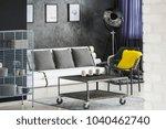 dark living room interior with... | Shutterstock . vector #1040462740