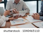 start up partners are working...   Shutterstock . vector #1040465110