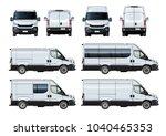 vector vans set template...   Shutterstock .eps vector #1040465353