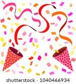 celebration cracker bonbon warm ... | Shutterstock .eps vector #1040466934