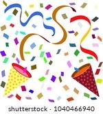 celebration cracker bonbon    Shutterstock .eps vector #1040466940