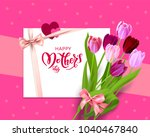 pink holiday mothers day | Shutterstock .eps vector #1040467840