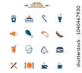 food icons set  | Shutterstock .eps vector #1040467930