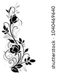 decorative ornament with rose... | Shutterstock .eps vector #1040469640