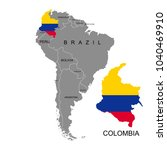 territory of colombia on south... | Shutterstock .eps vector #1040469910