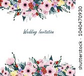 wedding invitation card... | Shutterstock .eps vector #1040470930
