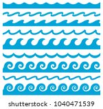wave ornament. vector seamless... | Shutterstock .eps vector #1040471539