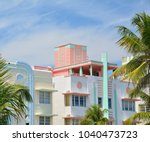 art deco style architecture in... | Shutterstock . vector #1040473723