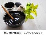 homemade facial mask and scrub...   Shutterstock . vector #1040473984