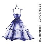 elegant blue dress for beauty...