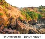 landscape sunset sea waves   Shutterstock . vector #1040478094