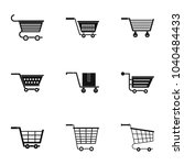 shopping cart icon set. simple... | Shutterstock . vector #1040484433