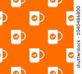 cup of tea pattern repeat... | Shutterstock . vector #1040486800