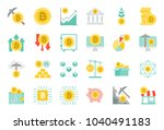 cryptocurrency concept flat... | Shutterstock .eps vector #1040491183