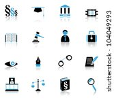 justice icons | Shutterstock .eps vector #104049293