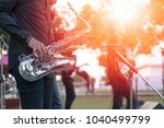 world jazz festival. saxophone  ...   Shutterstock . vector #1040499799