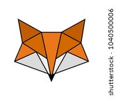 fox. geometric shapes. straight ... | Shutterstock .eps vector #1040500006