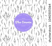 vector hand drawn floral... | Shutterstock .eps vector #1040505364