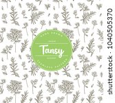 vector hand drawn floral... | Shutterstock .eps vector #1040505370