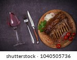 grilled rack of lamb in...   Shutterstock . vector #1040505736