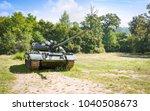 old tank of soviet union from... | Shutterstock . vector #1040508673