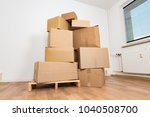 moving in new apartment. empty...   Shutterstock . vector #1040508700