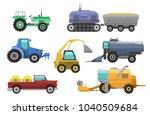 agricultural vehicles harvester ... | Shutterstock .eps vector #1040509684