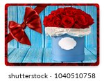 greeting card with bouquet... | Shutterstock . vector #1040510758