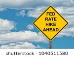fed rate hike ahead   caution... | Shutterstock . vector #1040511580
