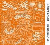 koningsdag in the netherlands ... | Shutterstock .eps vector #1040512894