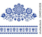 scandinavian vector folk art... | Shutterstock .eps vector #1040514328