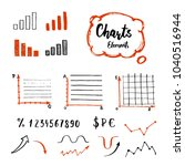 hand drawn business doodle set... | Shutterstock .eps vector #1040516944