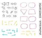 set of hand drawn different... | Shutterstock .eps vector #1040516950